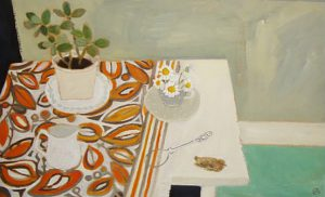 Saturday Arrangement by Stephanie Axtell 56x36cm