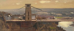 Clifton Suspension Bridge with Sunlit Clouds, February
