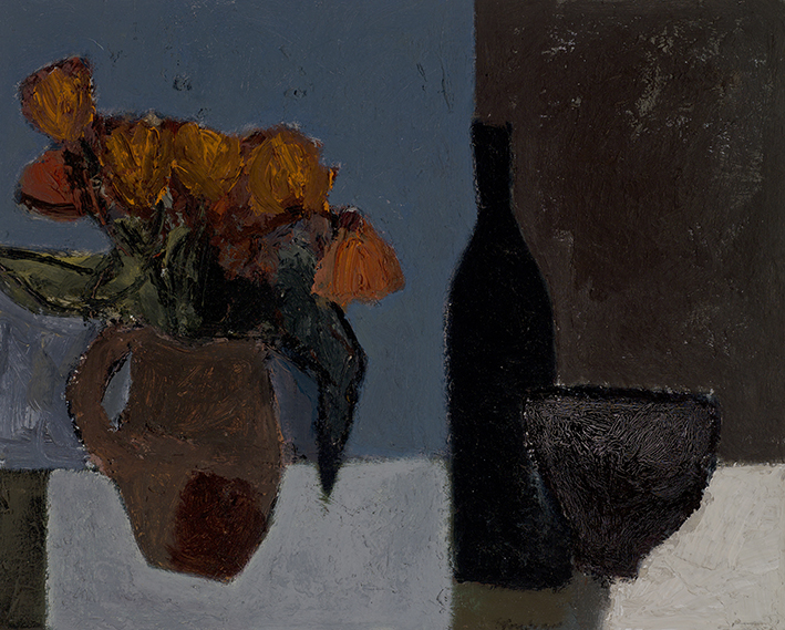 3 Vessels with Flowers