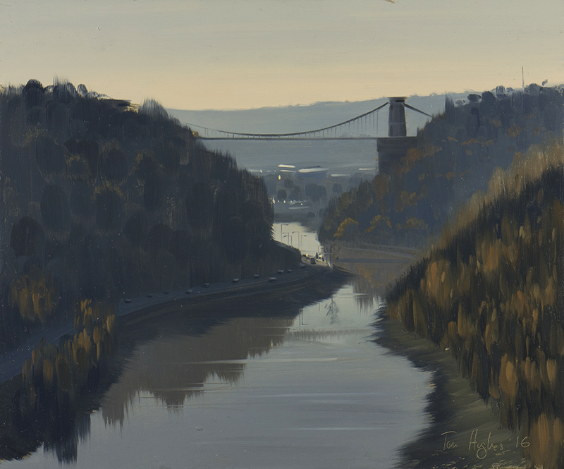 Looking South down the Avon Gorge from the Downs, Soft Light