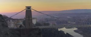 Clifton Suspension Bridge, dawn, January