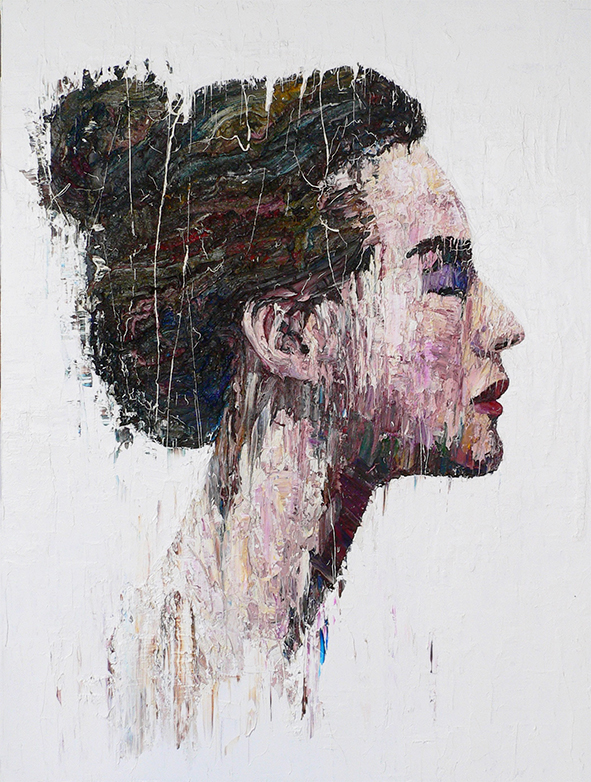 Profile by Carl Melegari oil on canvas