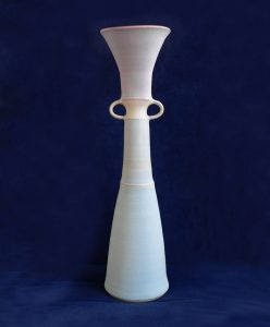 Tall stoneware vase by Christine Feiler