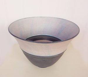Stoneware upright bowl by Christine Feiler