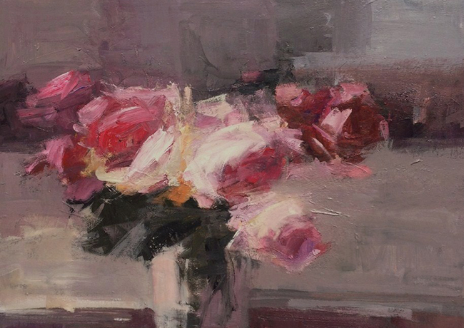 Roses in a Sunny Room