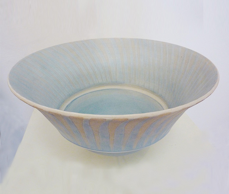 Large Stoneware Blue Bowl