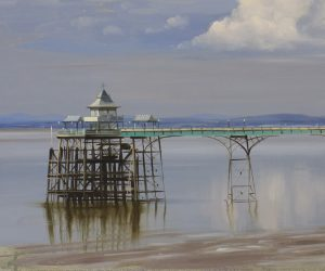 Clevedon Pier with Clouds, June