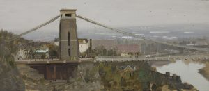 Clifton Suspension Bridge with Workmen, October