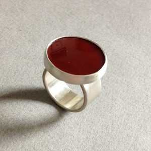 red agate ring size m