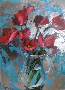 Tulips with Silver