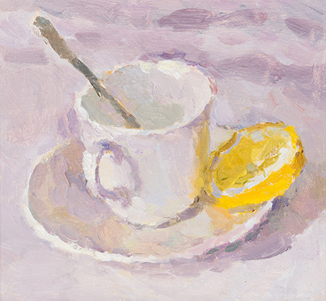 Teacup, Lemon and Spoon