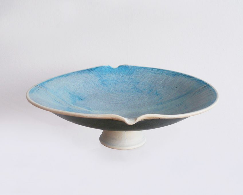 Footed Blue Dish