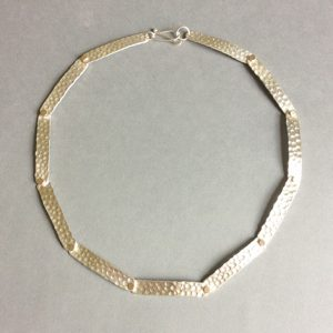 necklace silver gold