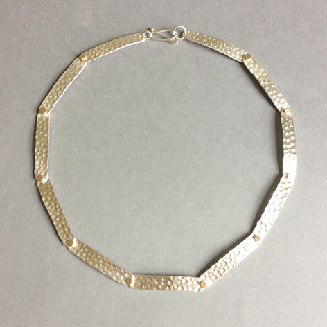 9ct Gold and Silver Necklace