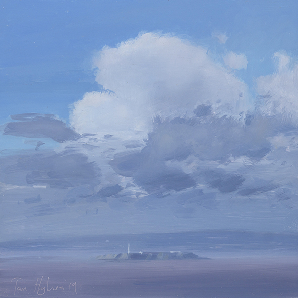Flat Holm, scattered clouds, February