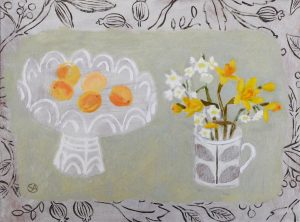 apricots and narcissi
