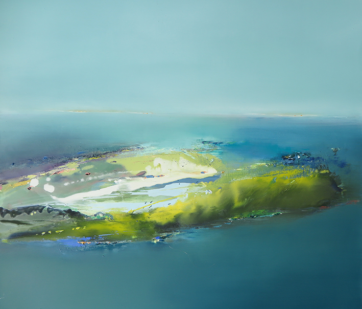 Shoreline with Yellow and Blue