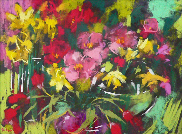 Daffodils and Camellias