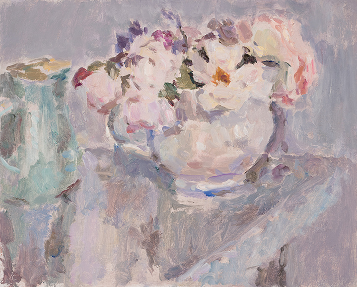 Roses and a Blue Jug