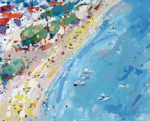 greek beach with boats