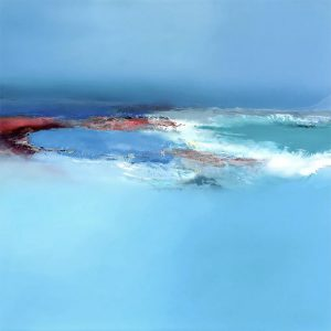 sea and sky with red